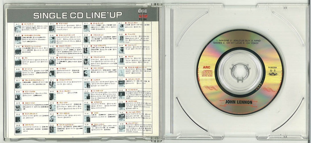 ジョン・レノン JOHN LENNON 希少CDS (8㎝)「GREATEST HIT FIRST PRESENTATION」 G-3 R-390084 激安スタート!