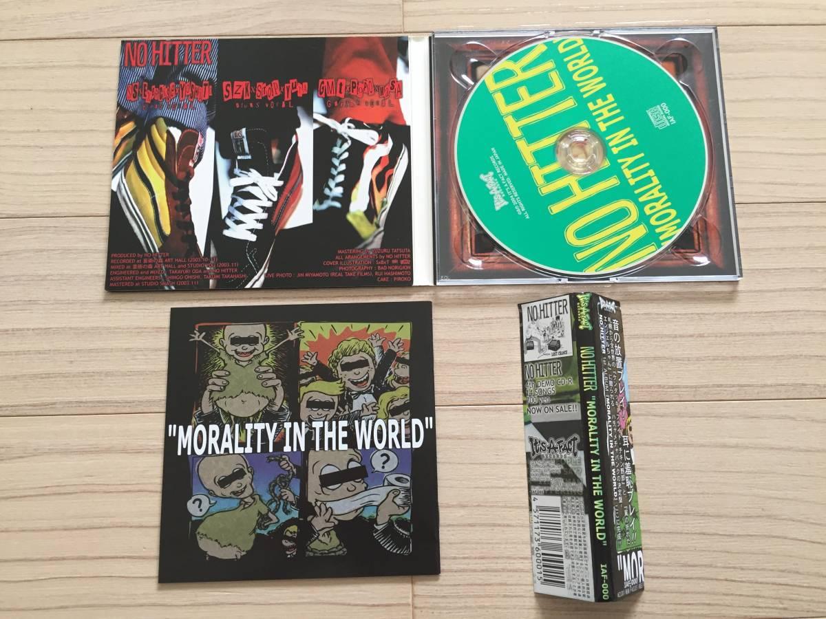 【国内盤/CD/Digipack仕様/It's A Fact Records/IAF-000/2004年盤/with Obi】 No Hitter / Morality In The World // Punk, Hardcore //_画像2