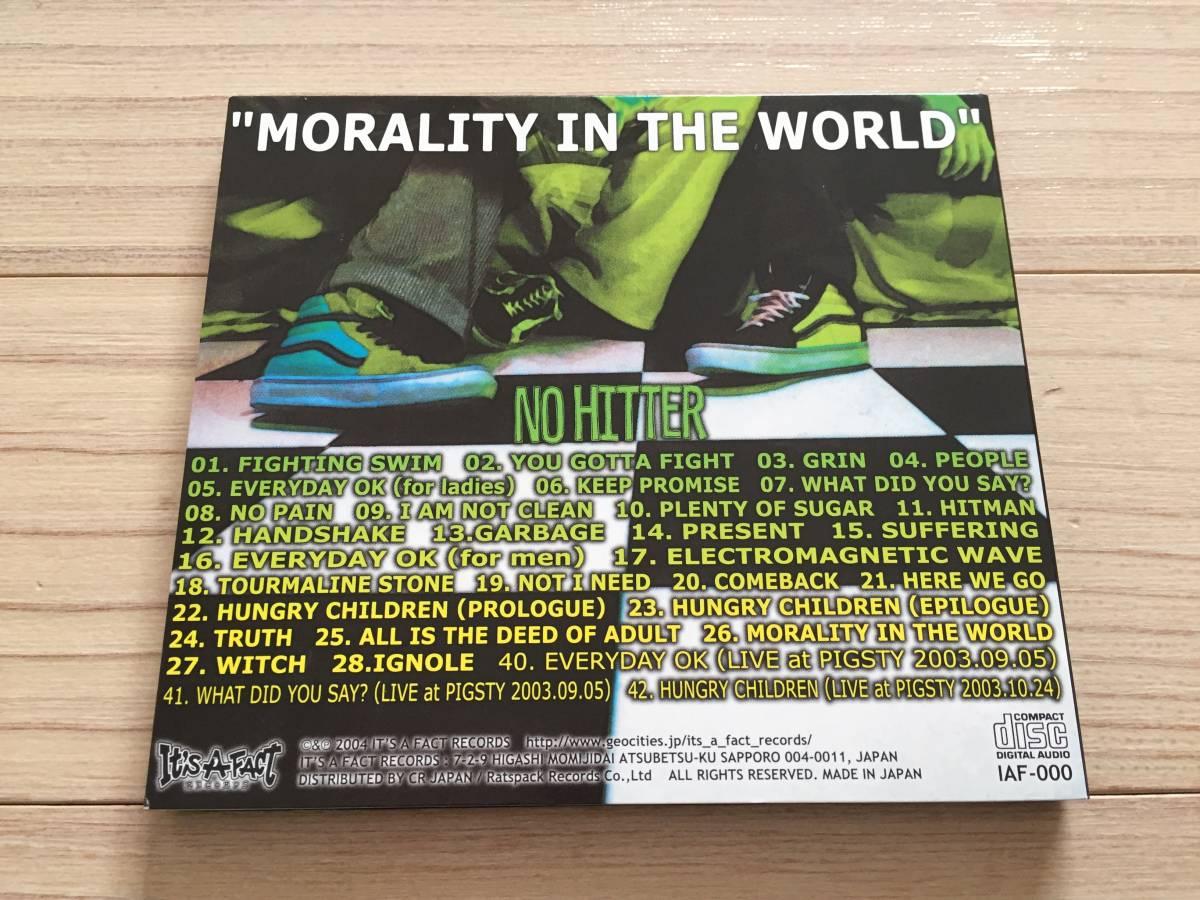 【国内盤/CD/Digipack仕様/It's A Fact Records/IAF-000/2004年盤/with Obi】 No Hitter / Morality In The World // Punk, Hardcore //_画像3