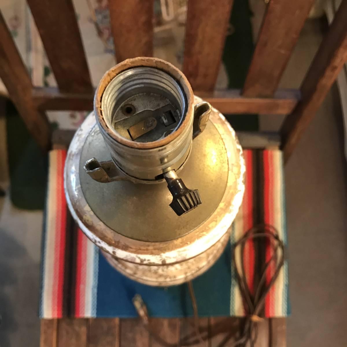 貴重!50'sアメリカアンティーク 茶×白×金色ランプ USA製ヴィンテージ家具Antiqueミッドセンチュリー/カリフォルニア西海岸60's70's_画像5