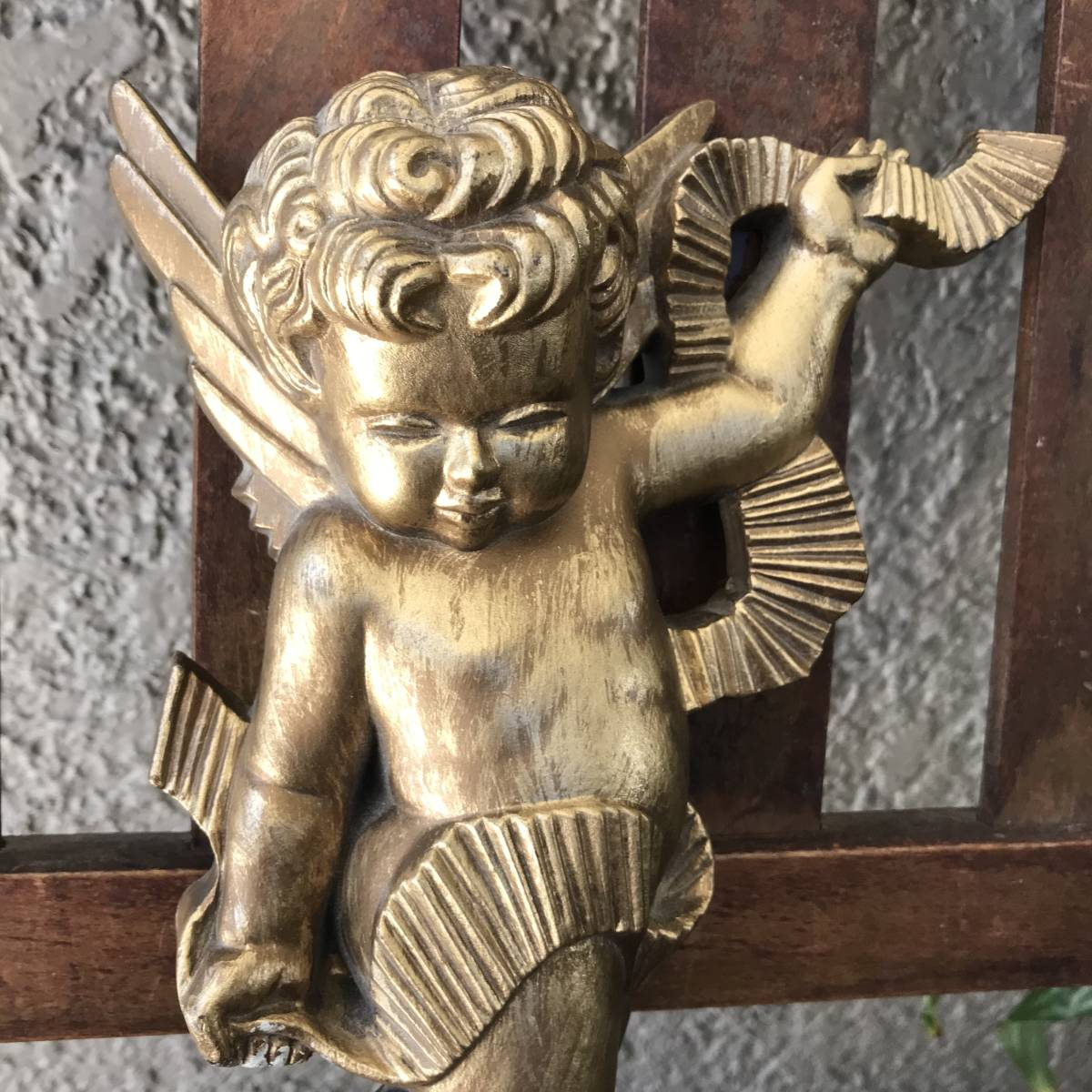 貴重!60's~70's アメリカアンティーク 天使エンジェルの壁掛け USA/北欧レトロ店舗什器ヴィンテージニューヨーク蚤の市ブロカント_画像4