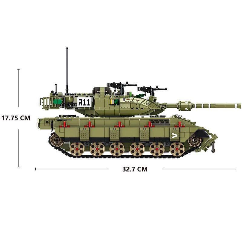 LEGO互換 メルカバ 緑_画像4