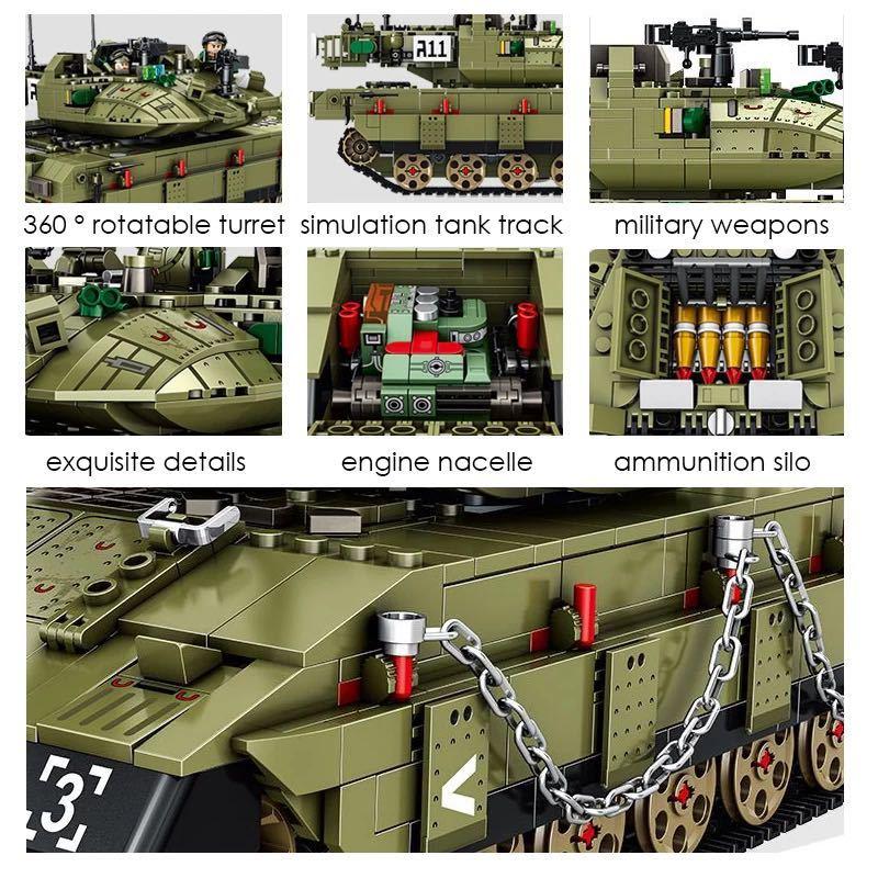 LEGO互換 メルカバ 緑_画像6