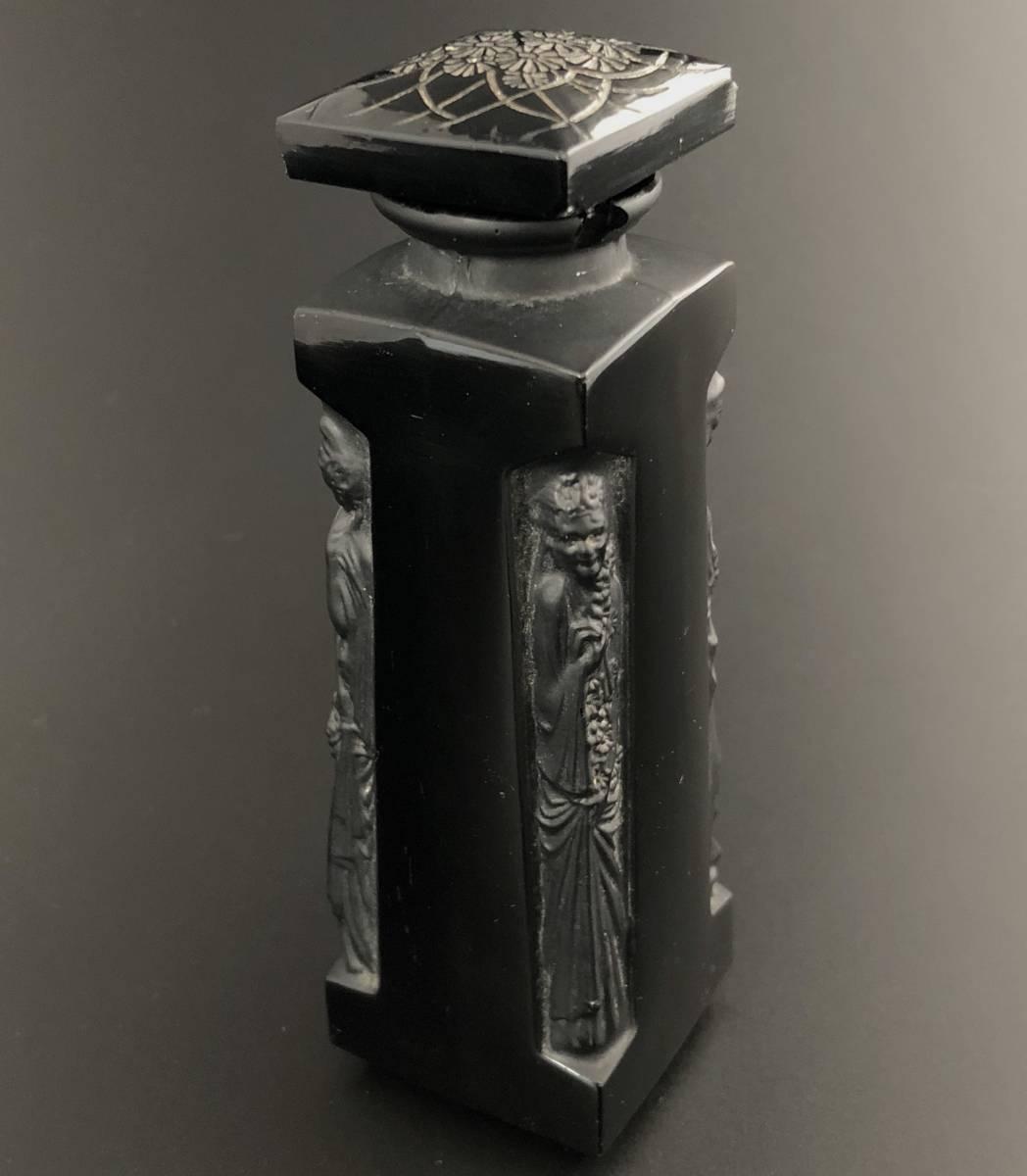 【値下げ可】/ルネ・ラリック/AMBRE D'ORSAY/黒/アンブル・ドルセー/高さ13cm/香水瓶/Lalique/フランス有名ブランド/ガラス工芸/送料無料_画像3