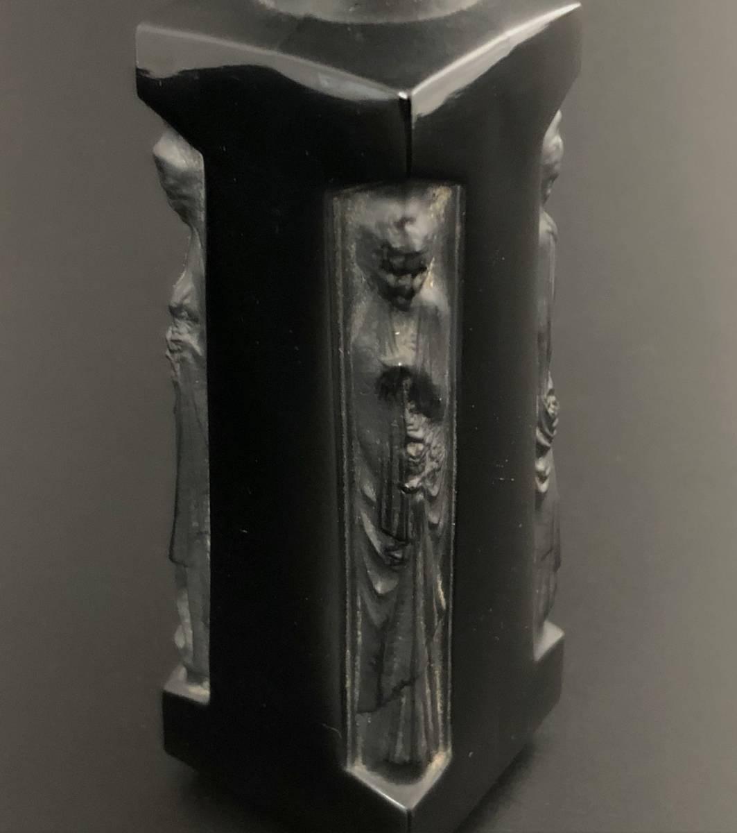 【値下げ可】/ルネ・ラリック/AMBRE D'ORSAY/黒/アンブル・ドルセー/高さ13cm/香水瓶/Lalique/フランス有名ブランド/ガラス工芸/送料無料_画像8
