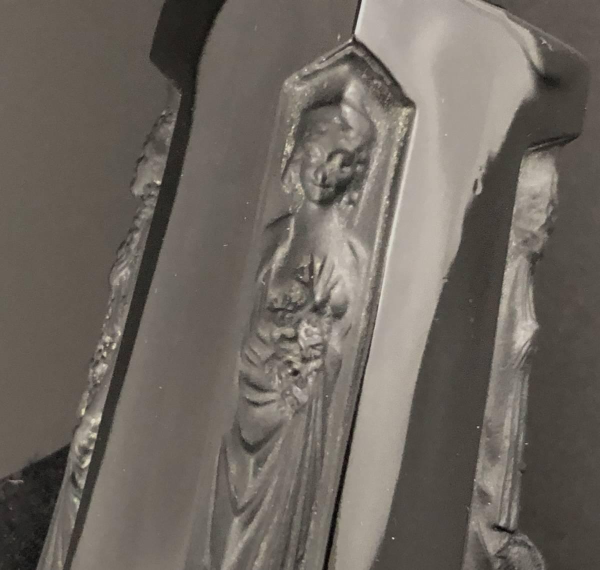 【値下げ可】/ルネ・ラリック/AMBRE D'ORSAY/黒/アンブル・ドルセー/高さ13cm/香水瓶/Lalique/フランス有名ブランド/ガラス工芸/送料無料_画像4