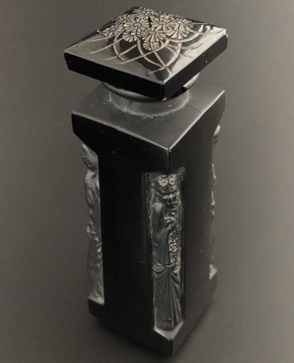 【値下げ可】/ルネ・ラリック/AMBRE D'ORSAY/黒/アンブル・ドルセー/高さ13cm/香水瓶/Lalique/フランス有名ブランド/ガラス工芸/送料無料_画像2