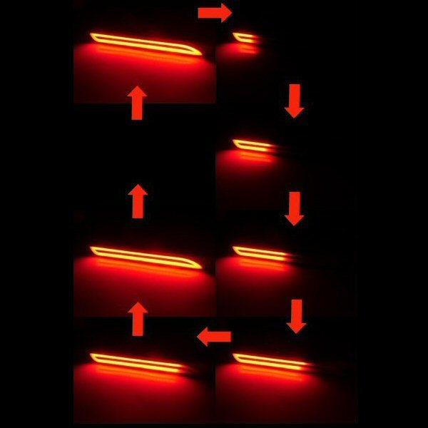トヨタ ダイハツ ファイバー LED リフレクター 流れるウィンカー シーケンシャル/テールランプ 20/30 ヴェルファイア/アルファード B_画像2