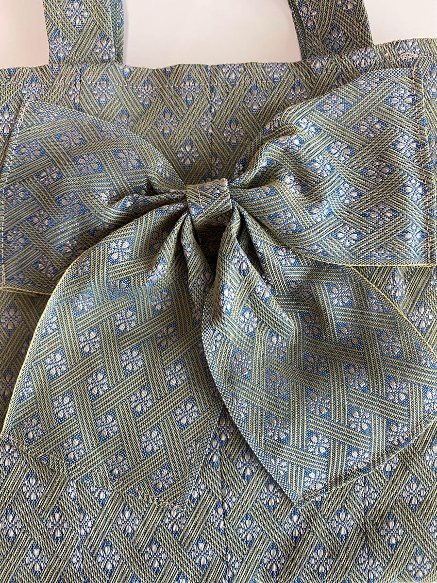 ハンドメイド 畳 縁 ハンドバック 軽量 素人 リボン