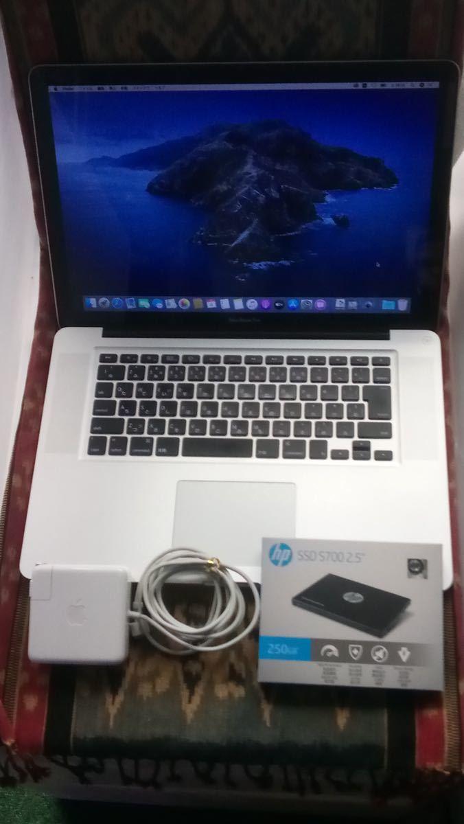 新品SSD 250GB交換済◆最新Catalina+Windows10◆MacBook Pro MC371J/A Core i5 2.4GHz/4GB//15インチ/Office付
