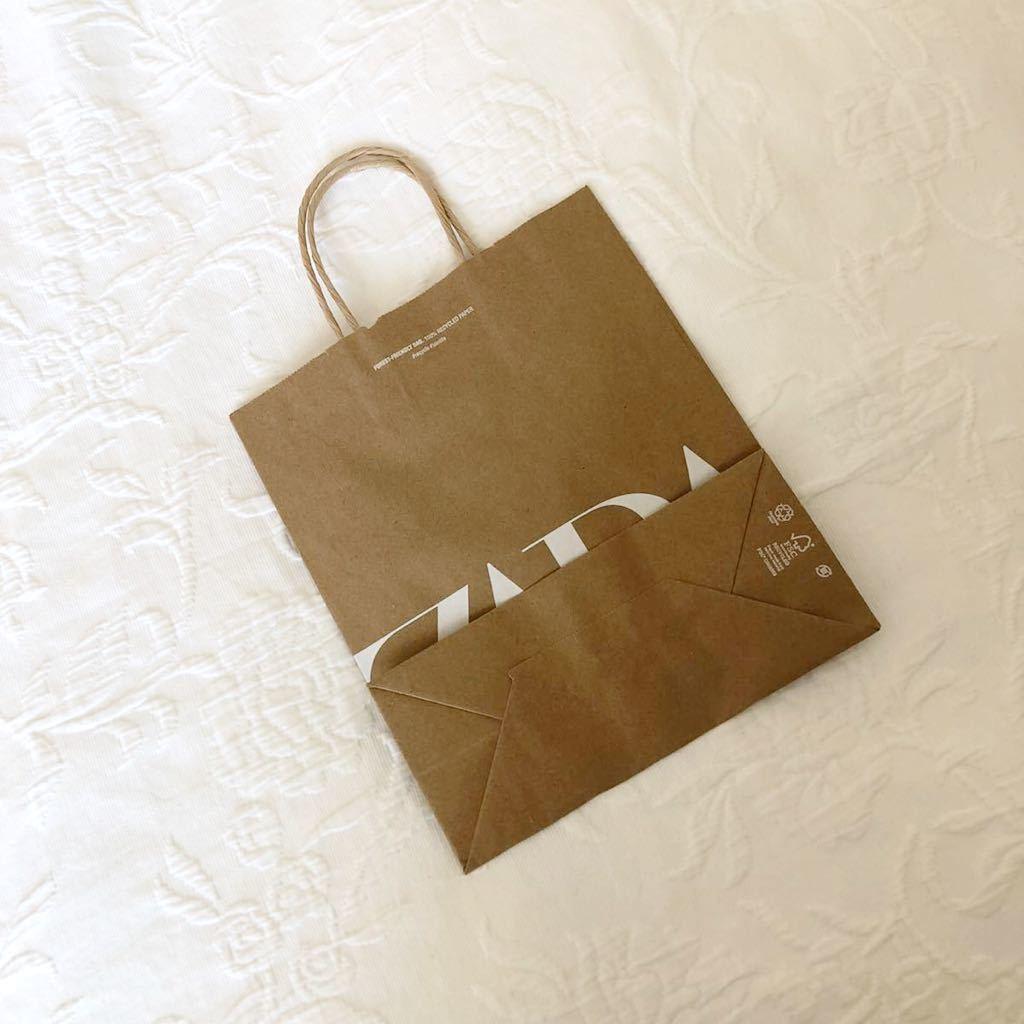 ★新品★ZARA★ショッパー★ザラ★ショップ袋★手提げ袋★紙袋★手さげ袋★ラッピング袋★包装★トートバッグ★エコバッグ★ギフトバッグ★