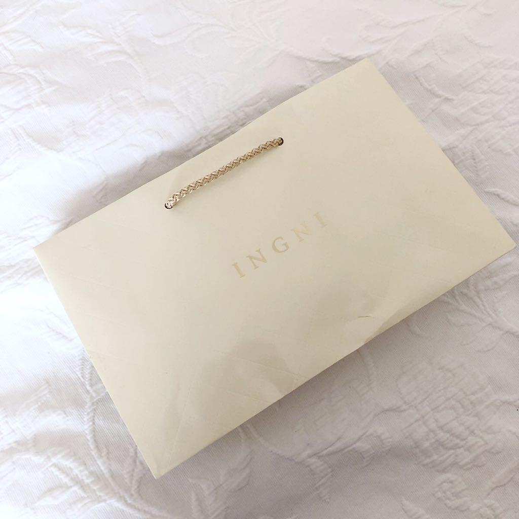 ★美品★INGNI★ショッパー★イング★ショップ袋★手提げ袋★紙袋★手さげ袋★ラッピング袋★包装★トートバッグ★エコバッグ★ベージュ★