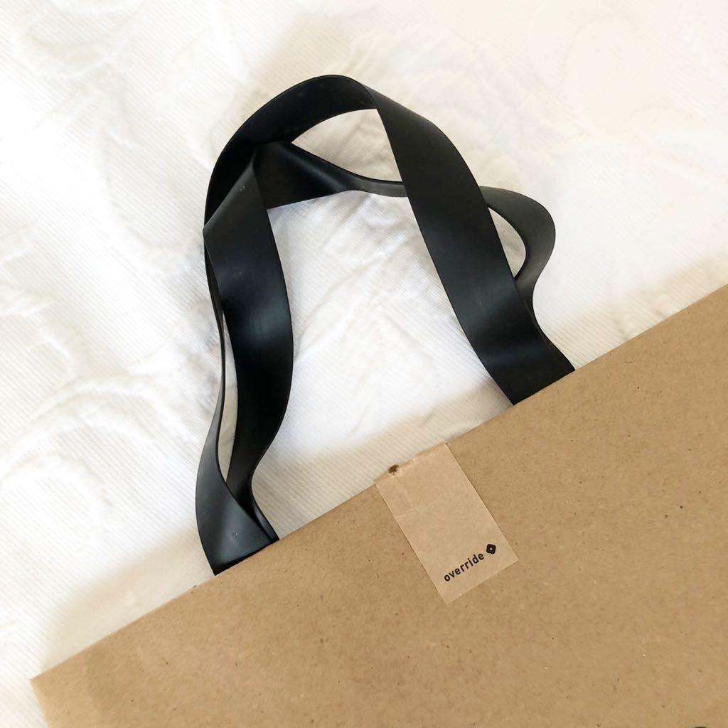 ★美品★over ride★ショッパー★ショップ袋★手提げ袋★紙袋★手さげ袋★ラッピング袋★包装★トートバッグ★エコバッグ★オーバーライド