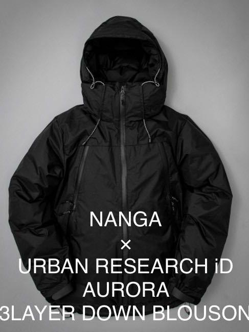 NANGA×URBAN RESEARCH iD/AURORA 3LAYER DOWN BLOUSON/黒/S/アーバンリサーチ ナンガ ダウンジャケット/オーロラテックス/760フィルパワー_画像1