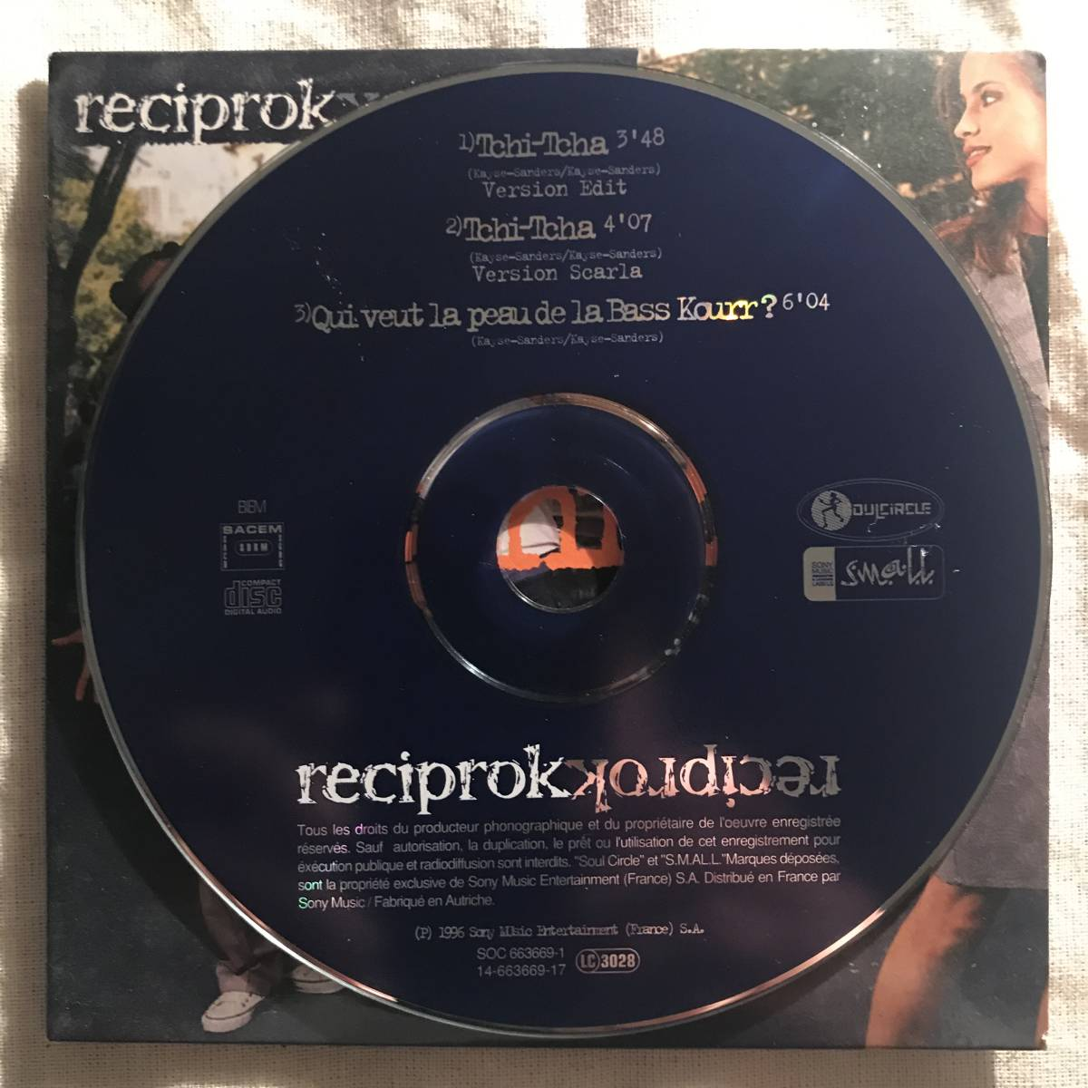 【CD Single】Reciprok/Tchi-Tcha France盤