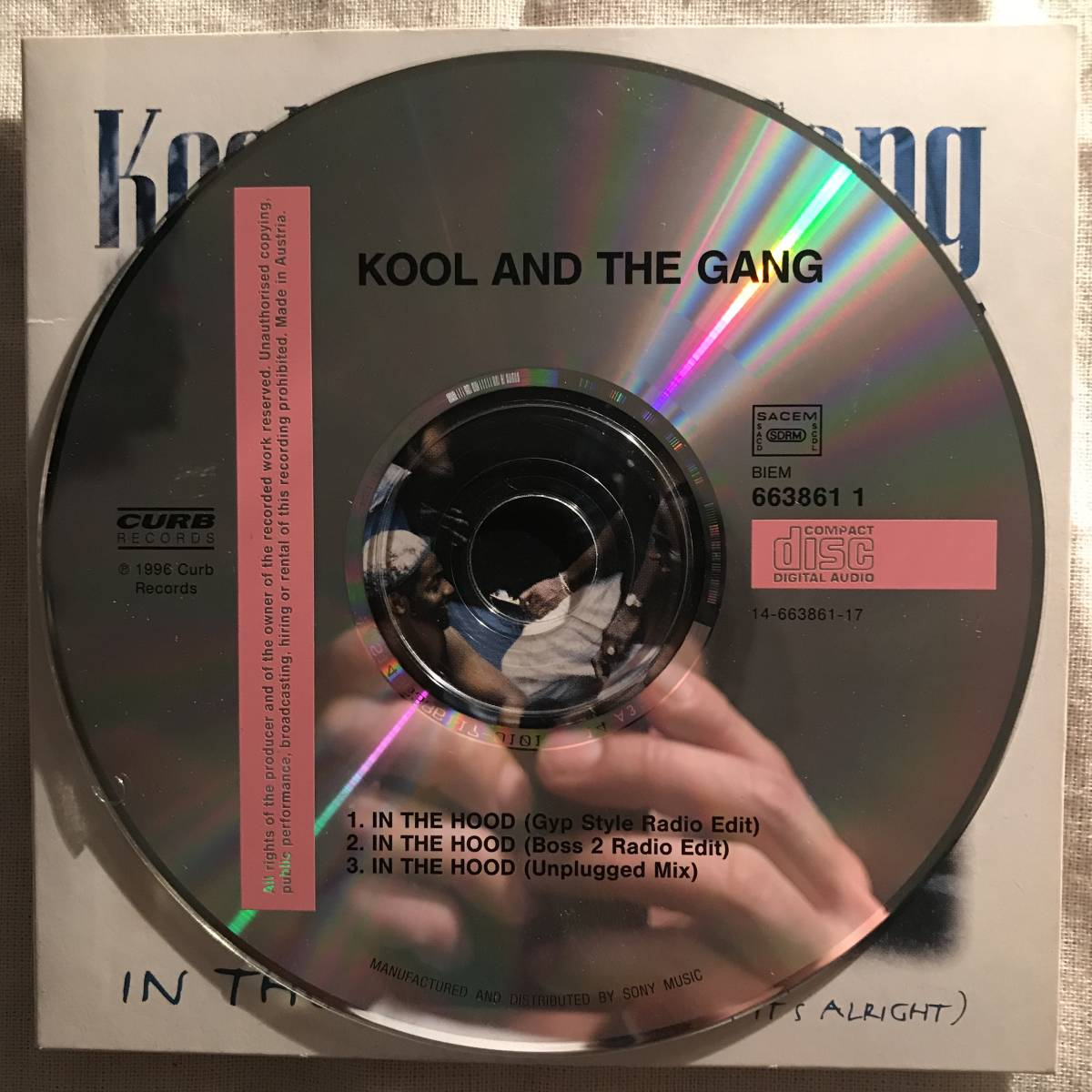【CD Single】Kool & The Gang/In The Hood(Tonight...It's Alright) France盤