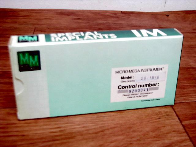 未使用?極美品 MICRO-MEGA INSTRUMENT ハンドピース Model:20/IMKB 歯科技工_画像2