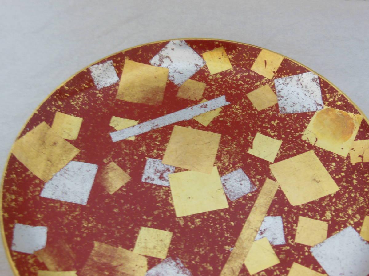 ●《 明治~大正期 金銀箔散 菓子皿 》 菓子器 茶道具 茶席道具 煎茶道具 骨董 古美術 古道具 古民家 古民芸_画像3