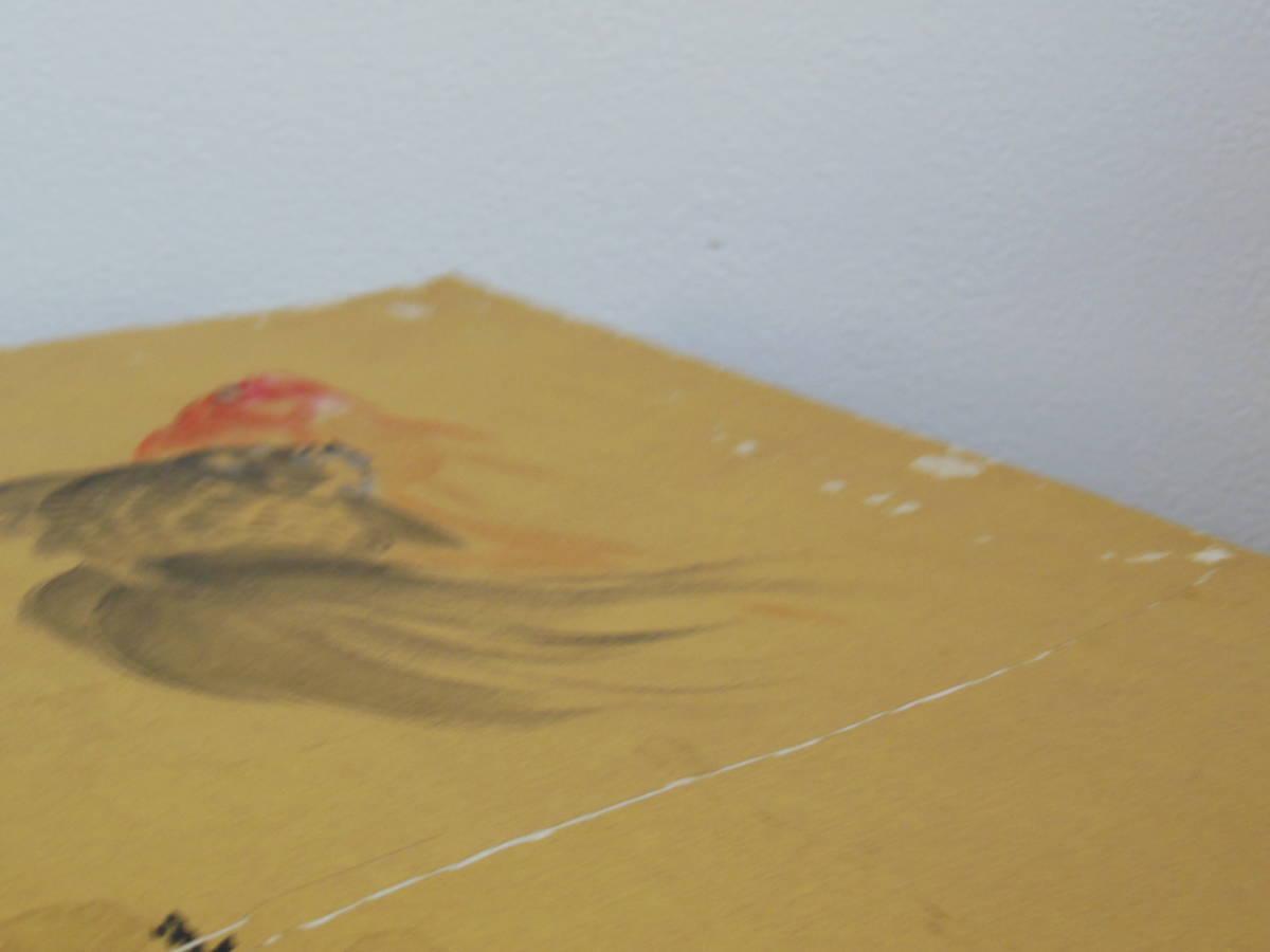 ●《 高木美石 金魚図 色紙 》真筆 大橋翠石 岐阜 日本画 金魚 夏 風物詩 書画 書 掛け軸 茶道具 まくり_画像4