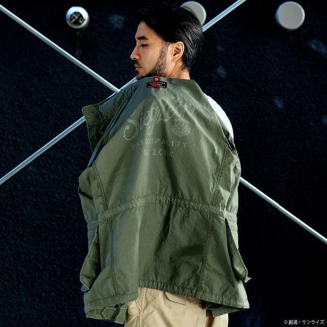 """即日発送 新品 送料無料 STRICT-G × ALPHA INDUSTRIES M-65 フィールドジャケット 『機動戦士ガンダム』 """"ランバ・ラル""""モデル L_画像3"""