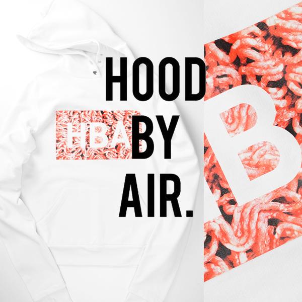 ■新品11.6万【HOOD BY AIR】フッドバイエアー/希少16AW人気のHBAミートボックスロゴ/ウィンドストップロングスリーブスウェットパーカーM