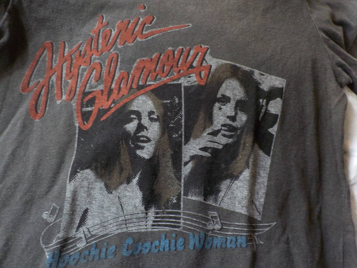 ジョーイヒスグラ★hoochieヒスガールズの半袖Tシャツ(ヤング・グレー杢)_画像1