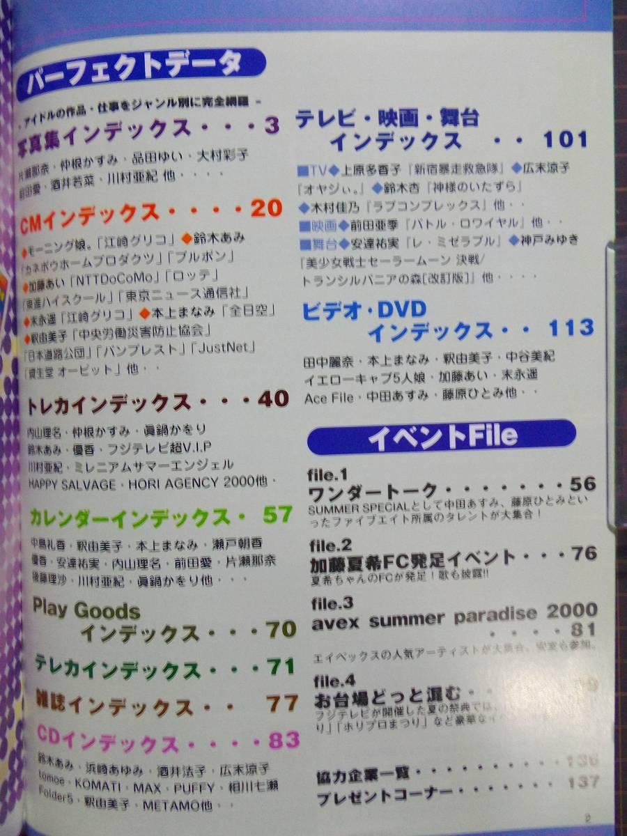 【アイドル情報誌】『アイドルデータ vol.4』[2000年/永久保存版][資料/データベース]管理番号H2-282_画像3