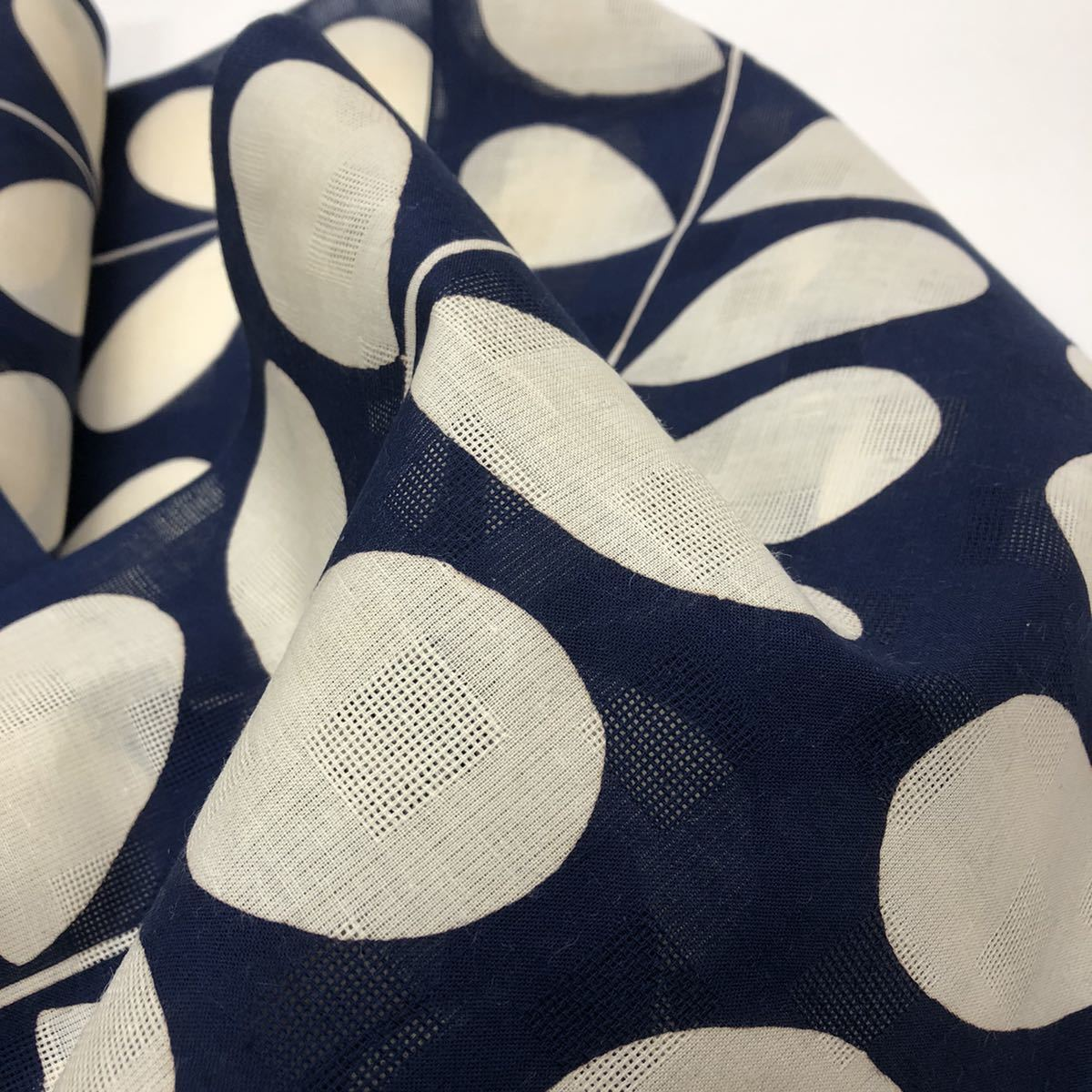 紺色 紺地 浴衣 大人 女性用 女用 反物 浴衣反物 綿麻 夏着物 綿 麻 浴衣_画像6