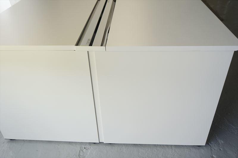 【大量在庫】【160席分】【中古】イトーキ インステートリンク フリーアドレスデスク 6414 W1600天板×8枚 8席分 H720 ホワイト_画像5