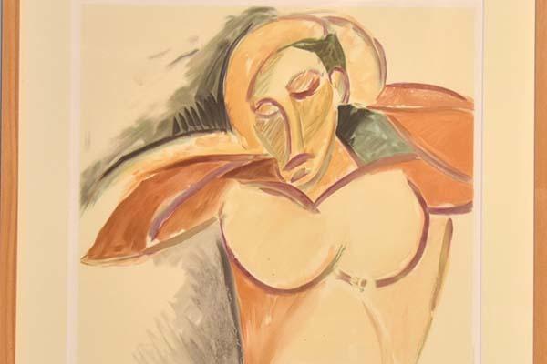 ピカソ Pablo Picasso リトグラフ「男の半身像」 1982年 カラー石版 マリナコレクション 額装あり 絵画 書画 美品 y0021_画像3