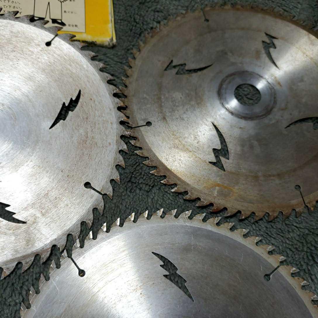 チップソー ドイツベストマックス 中古品長期保管(外径190 内径20 刃数64×2枚 52×1枚) 多少錆びあり 使用頻度少し 三枚セット_画像8