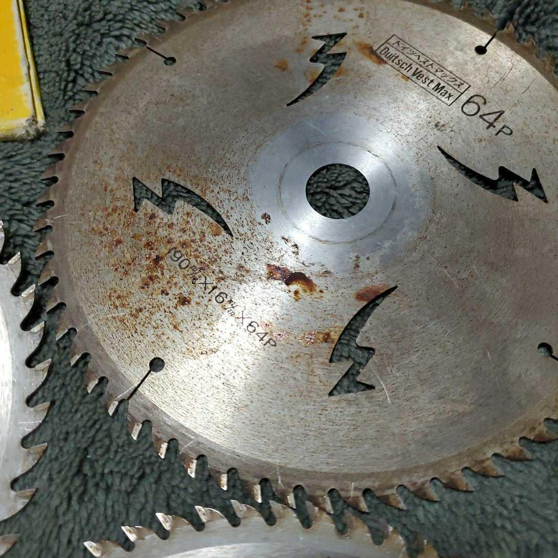 チップソー ドイツベストマックス 中古品長期保管(外径190 内径20 刃数64×2枚 52×1枚) 多少錆びあり 使用頻度少し 三枚セット_画像9
