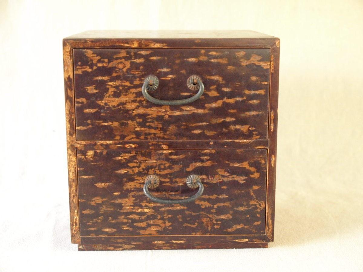 昭和レトロ 日本製 桜木箱20cm キュービックサイズ 収納箱 小物入れ 小引き出し 日本伝統工芸_画像4