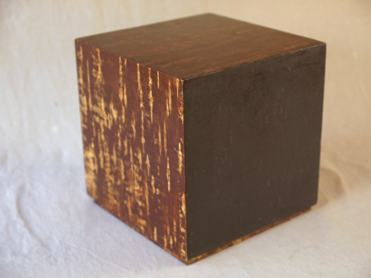 昭和レトロ 日本製 桜木箱20cm キュービックサイズ 収納箱 小物入れ 小引き出し 日本伝統工芸_画像9