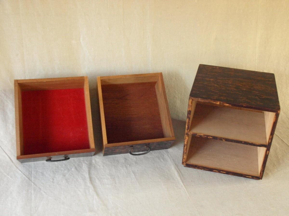 昭和レトロ 日本製 桜木箱20cm キュービックサイズ 収納箱 小物入れ 小引き出し 日本伝統工芸_画像7