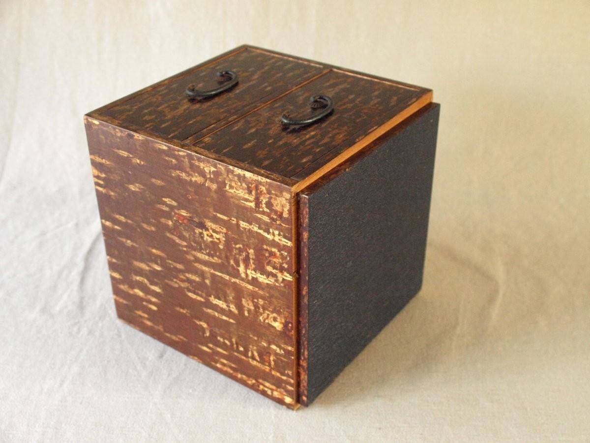 昭和レトロ 日本製 桜木箱20cm キュービックサイズ 収納箱 小物入れ 小引き出し 日本伝統工芸_画像5