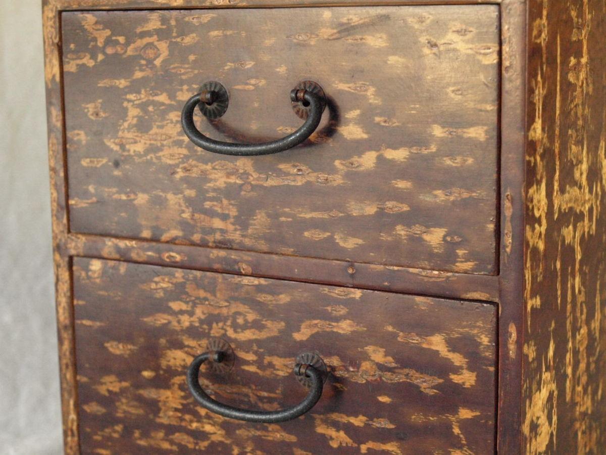 昭和レトロ 日本製 桜木箱20cm キュービックサイズ 収納箱 小物入れ 小引き出し 日本伝統工芸_画像2