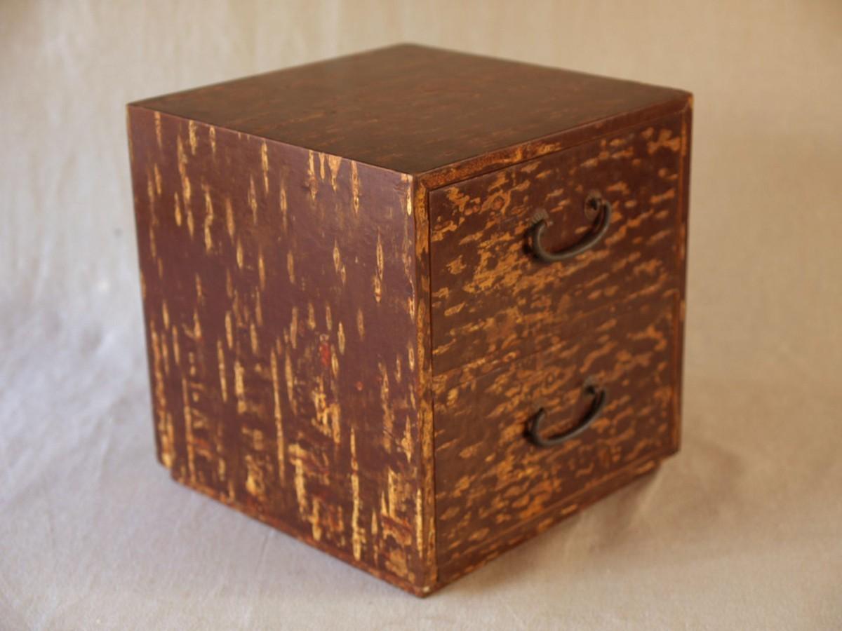 昭和レトロ 日本製 桜木箱20cm キュービックサイズ 収納箱 小物入れ 小引き出し 日本伝統工芸_画像10