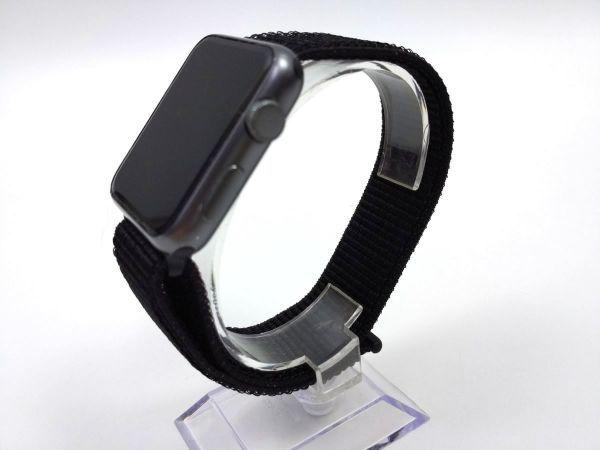apple watch 4 44mm/ 3 42mm用 交換用ベルト ストラップ ナイロン スポーツバンド ブラック_画像2