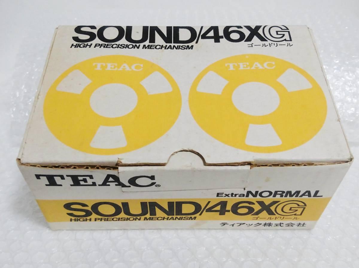新品 未開封+輸送箱+廃盤品 TEAC SOUND 46X G Extra NORMAL ゴールド ×6本 ティアック オープンリール型カセットテープ_画像2