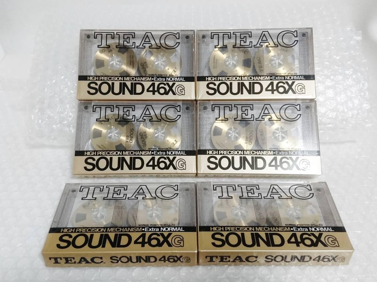新品 未開封+輸送箱+廃盤品 TEAC SOUND 46X G Extra NORMAL ゴールド ×6本 ティアック オープンリール型カセットテープ_画像3