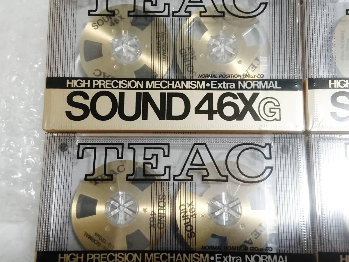 新品 未開封+輸送箱+廃盤品 TEAC SOUND 46X G Extra NORMAL ゴールド ×6本 ティアック オープンリール型カセットテープ_画像4