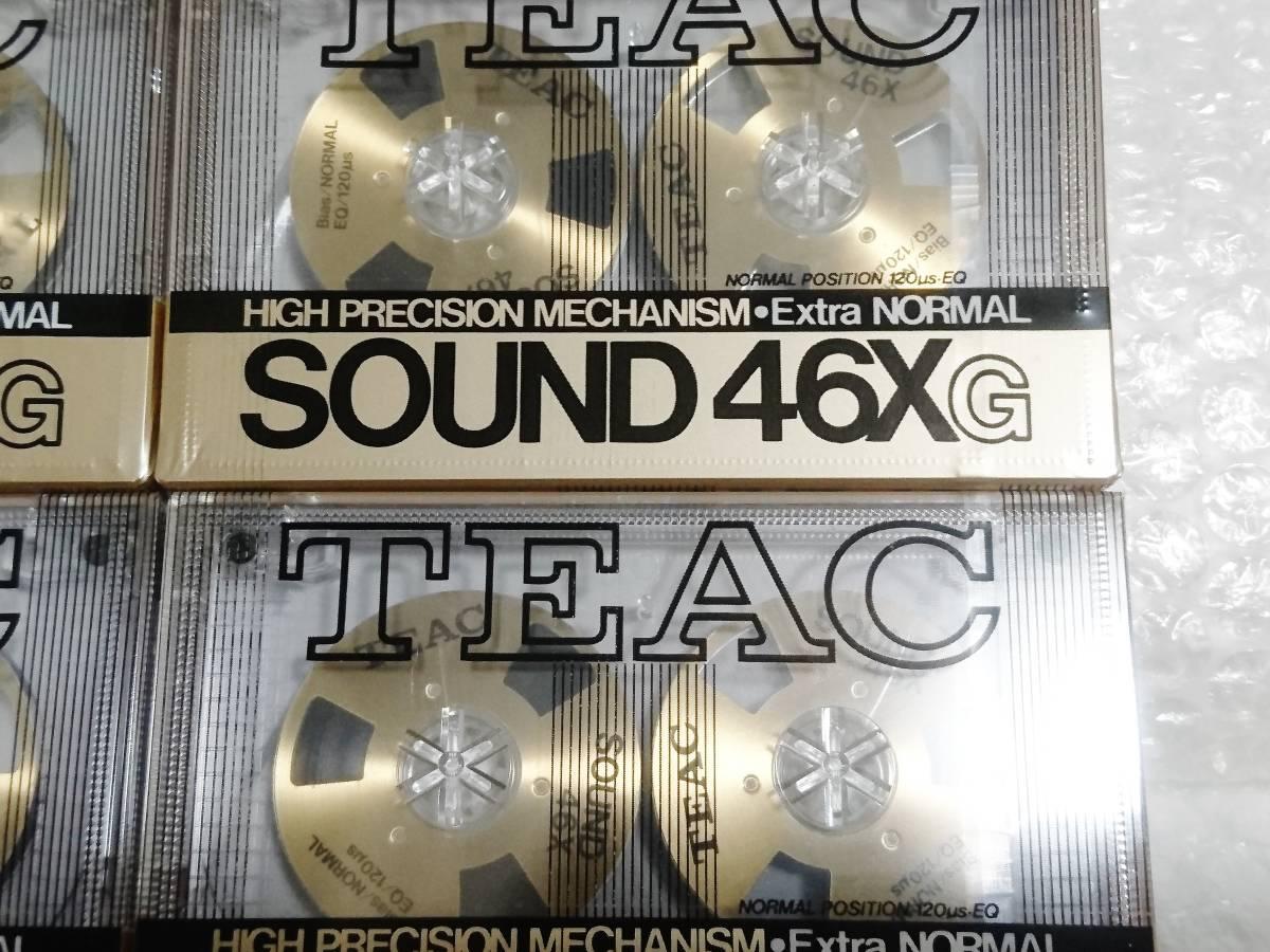 新品 未開封+輸送箱+廃盤品 TEAC SOUND 46X G Extra NORMAL ゴールド ×6本 ティアック オープンリール型カセットテープ_画像5