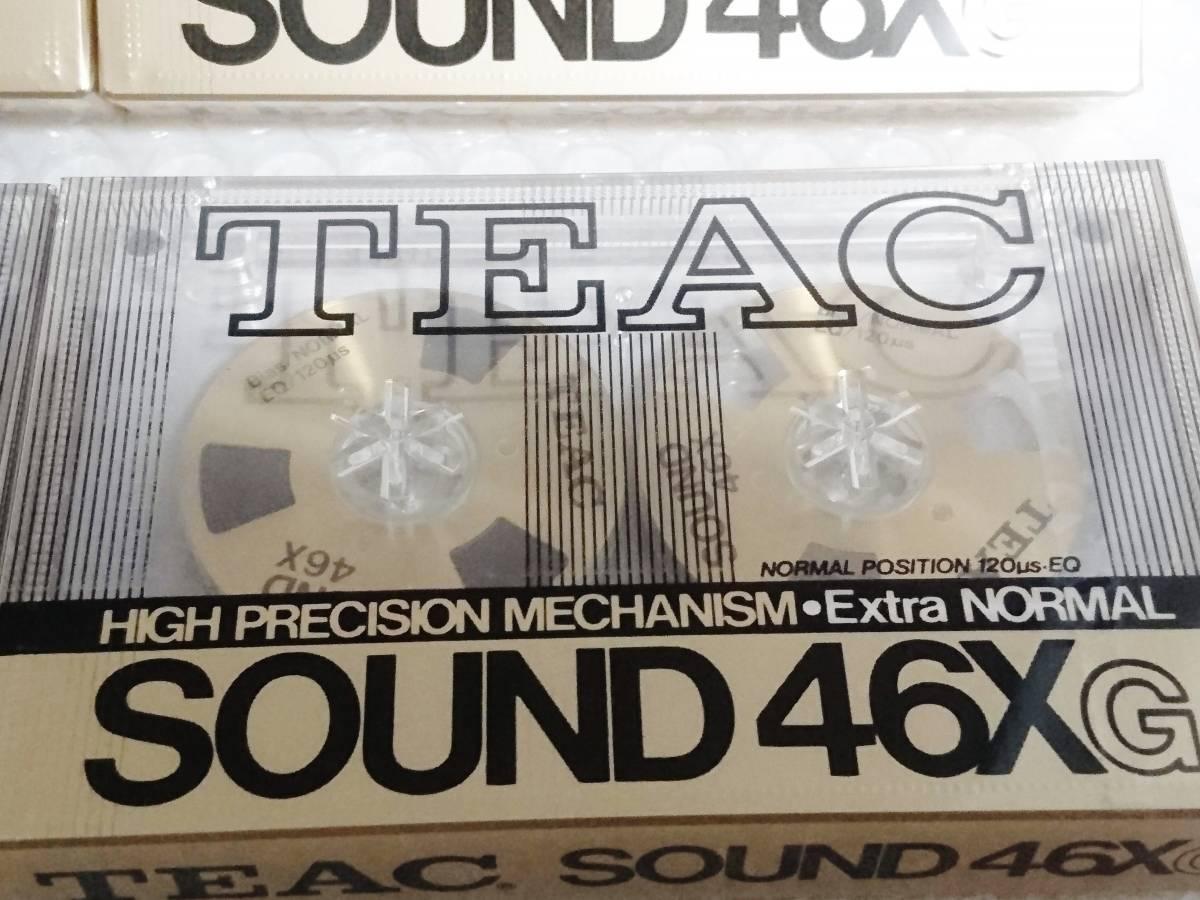 新品 未開封+輸送箱+廃盤品 TEAC SOUND 46X G Extra NORMAL ゴールド ×6本 ティアック オープンリール型カセットテープ_画像7