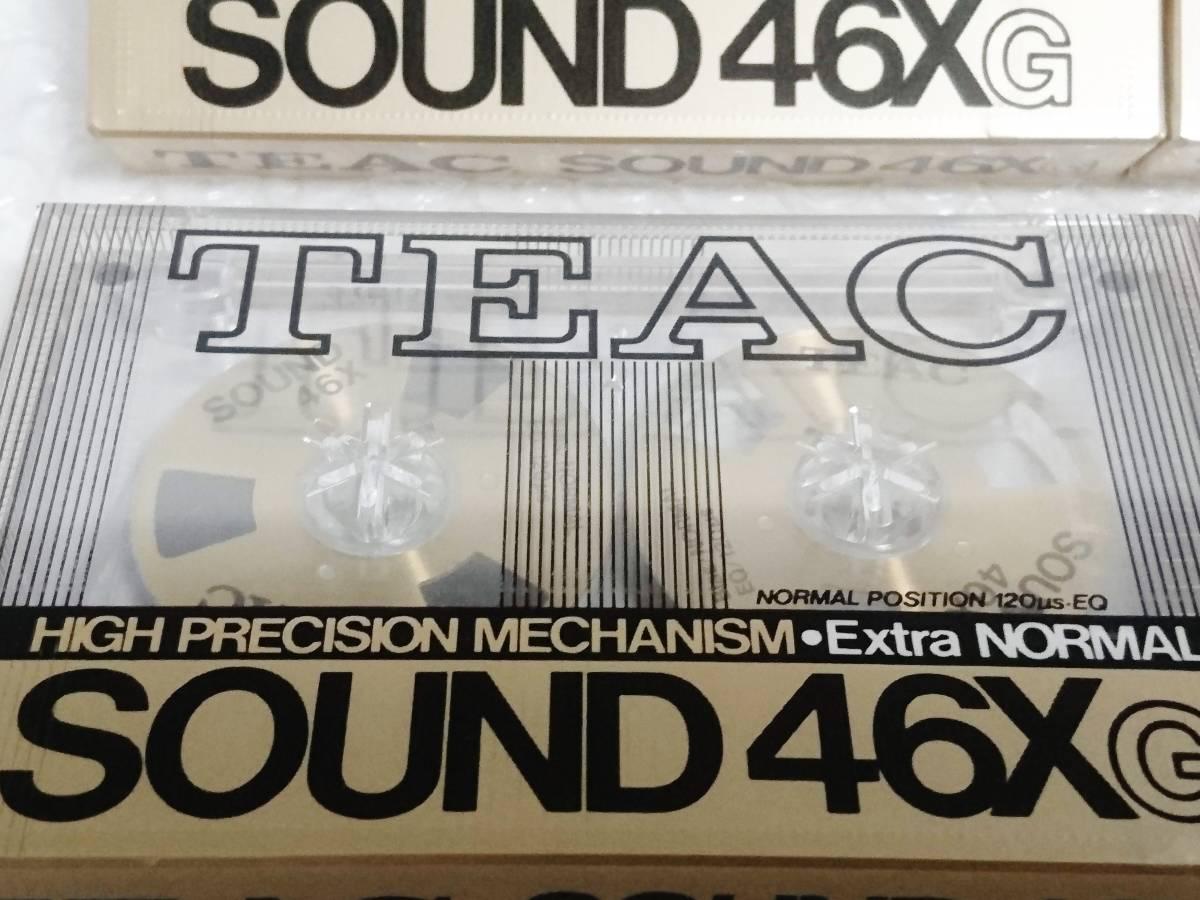 新品 未開封+輸送箱+廃盤品 TEAC SOUND 46X G Extra NORMAL ゴールド ×6本 ティアック オープンリール型カセットテープ_画像6