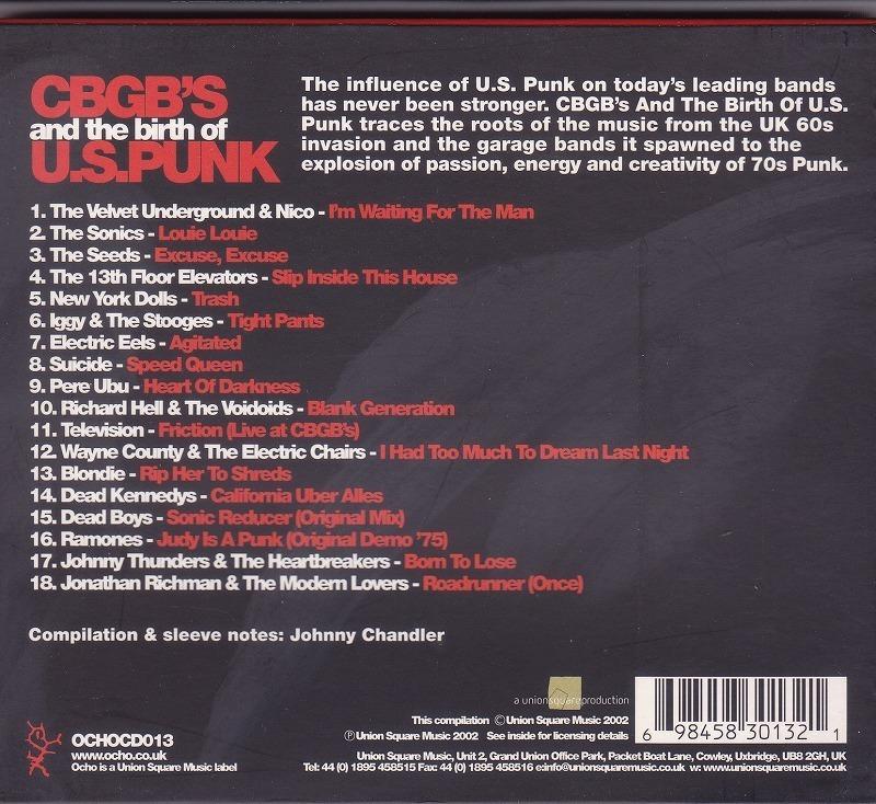 CBGB's and the birth of U.S. PUNK /EU盤/中古CD!! 商品管理番号:43427_画像3