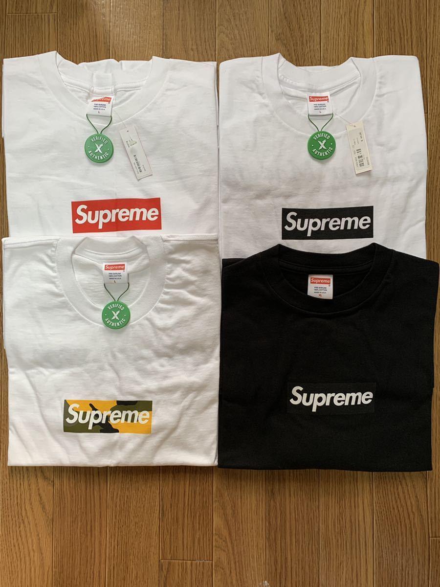 BOX LOGO4枚セット 納品書有り Supreme BOX LOGO TEE Tシャツ 20th PARIS BROOKLYN COVID