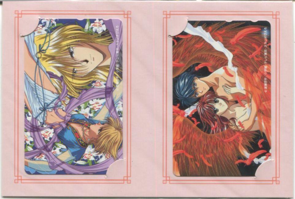 "★ ""Fushigi Yugi"" Yui Hongo: Kokoroyado Yujo Yoshishu: Oniyado Studio Pierrot 20 anniversary limited telephone card 2-Pack [with mount] Yuu Watase"