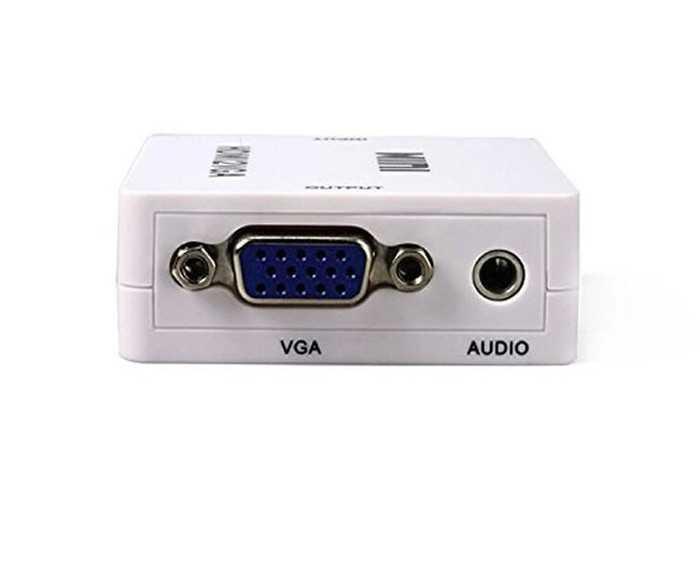 HDMI to VGA 変換機コンバーター 変換アダプタ HDMI信号をVGA出力信号に変換