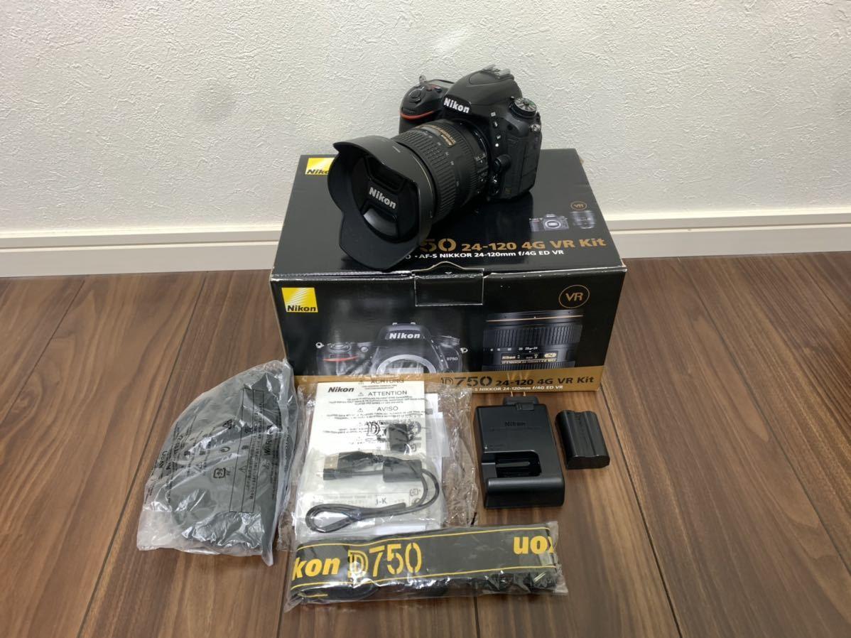 Nikon ニコン D750 24-120mm レンズキット 一眼レフ 美品 ショット数【5482枚】